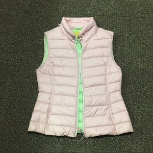 Pink and Green Puffer Vest